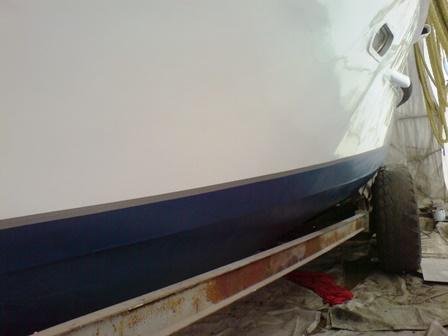 Bootslackierung Seitenschiff