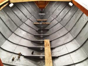 Kernsanierung eines Bootes